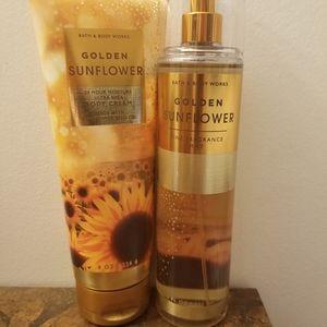 Golden sunflower Bath and Body works